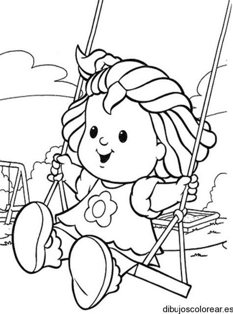 imagenes de niños jugando en un columpio para colorear mayo 2013 dibujos para colorear