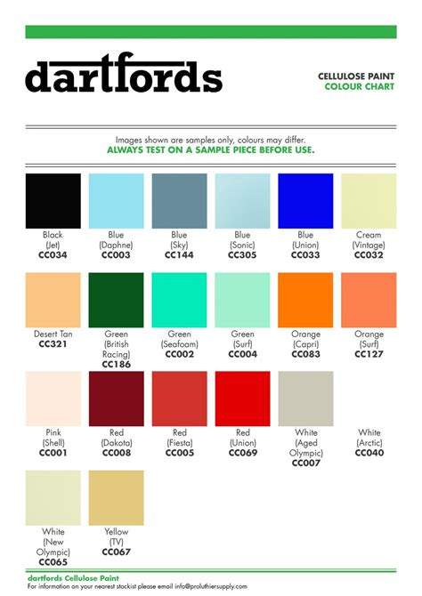 material color code chart image collections chart exle ideas