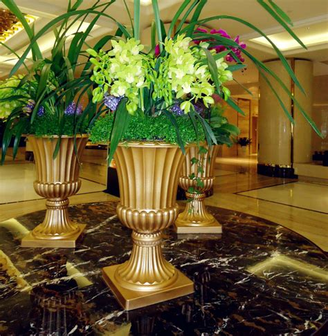 Cheap Urn Planter by Decorative Large Plastic Garden Urn Planters Pot