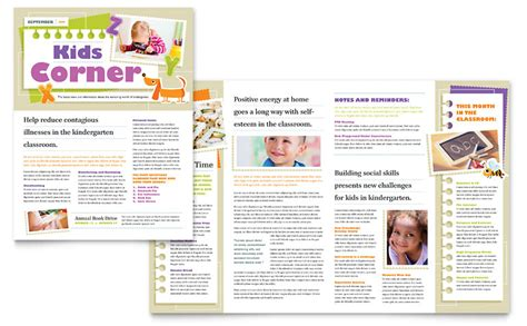 Kindergarten Newsletter Template Word Publisher Microsoft Templates Newsletter