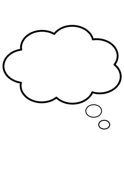 Thinking Outline by Thinking Balloon Clip Vector Clip Royalty Free Clipart Best Clipart Best