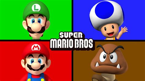 mario colors the mario bros matching learning colors juniors