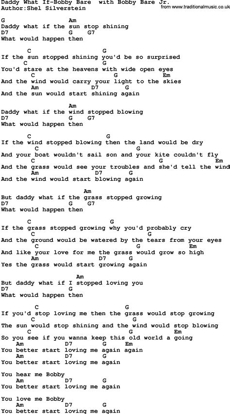 lyrics bobby bare jr country what if bobby bare with bobby bare jr