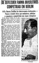 Atleta negro americano Jesse Owens vence Hitler nos Jogos