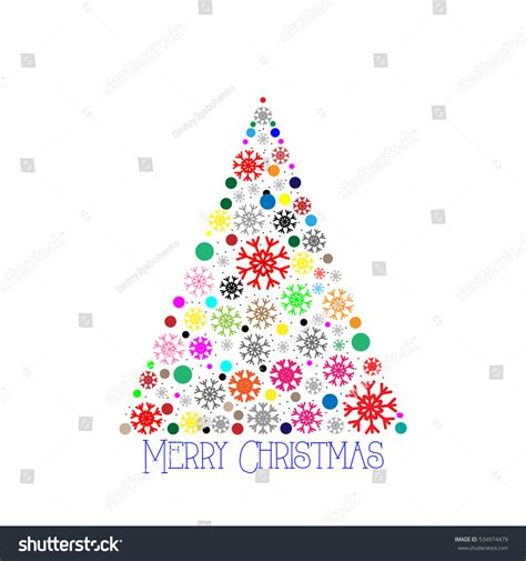 christmas tree vector illustration greeting card