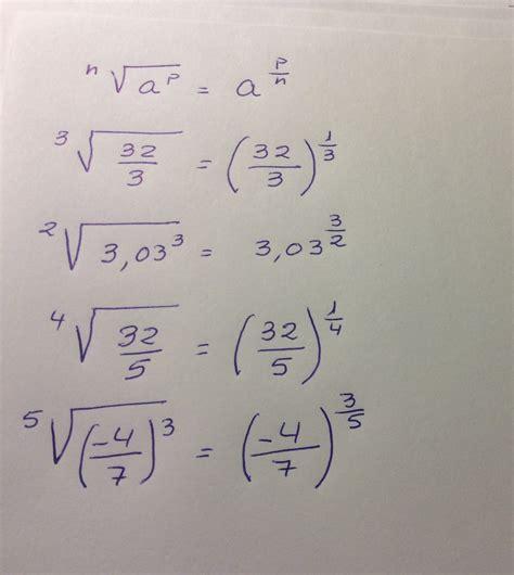 raiz cuadrada de 40 escribe en forma de potencia las siguientes raices raiz
