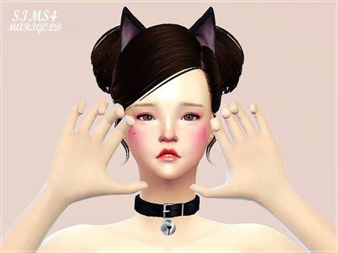 Set Levita Salem cat bell choker at marigold via sims 4 updates sims 4