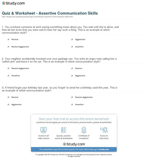 assertiveness worksheets free worksheets library