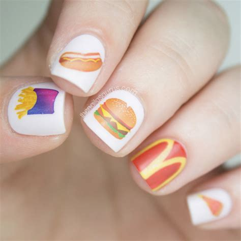 easy nail art converse enter the weird and wonderful world of food inspired nail