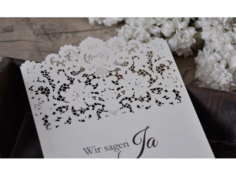 Hochzeit Einladungskarten Spitze by Einladungskarte Zur Hochzeit Mit Lasercut Spitze Vintage