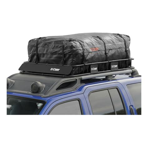 Curt Roof Rack by Curt Manufacturing Curt Extended Roof Rack Cargo Bag 18221