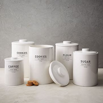 kitchen canisters white utility kitchen canisters white west elm