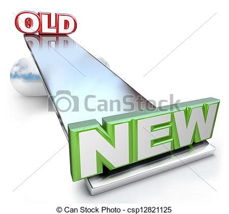 English Word For Bathroom Clip Art Of Old Versus New Balance On See Saw Scale New
