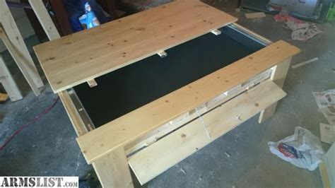 coffee table with gun storage armslist for sale gun storage coffee table
