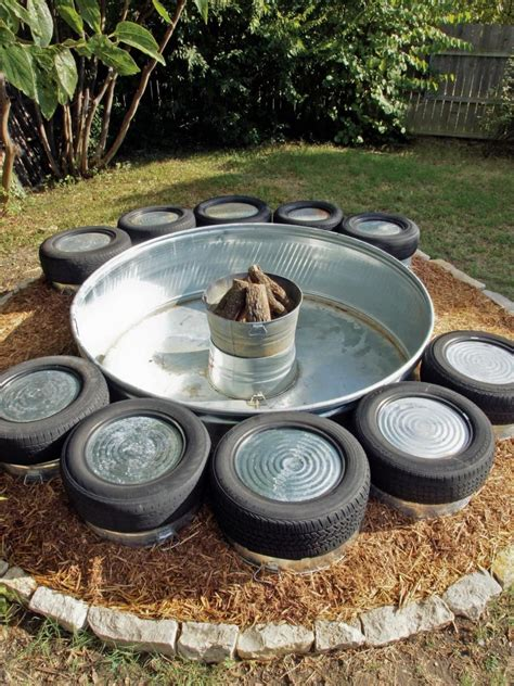 diy pit trough how to build a pit industrial style hgtv and bench