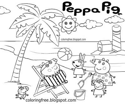 peppa pig at the beach coloring pages peppa pig world colouring pages peppa pig kids debenhams