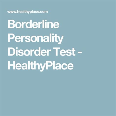 test borderline 1000 ideas about borderline personality disorder test on