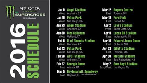 2015 ama motocross schedule 2016 energy supercross schedule mxbars