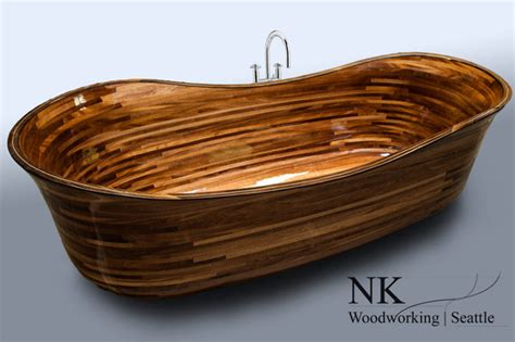 wooden bathtubs wood bathtub nk woodworking the lotus design