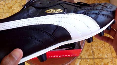 Sepatu Bola King sepatu bola king top di fg black white gold 170115 01 unboxing