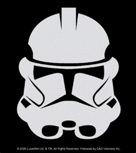Aufkleber Sek Helm by Wars Clone Wars Symbols On Black Rectangle With