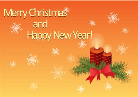 merry christmas  happy  year  card christmas candles