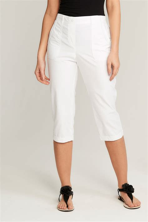 Cotton Cropped Trousers essential cotton cropped trousers