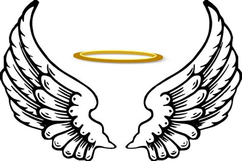 angel halo with wings clip art at clker com vector clip