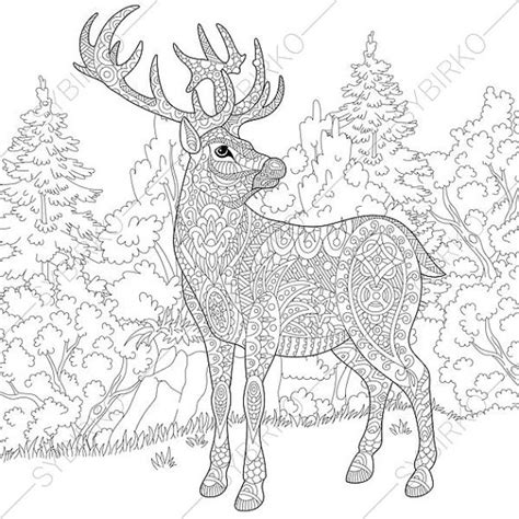 coloring pages for adults deer adult coloring pages christmas deer reindeer zentangle