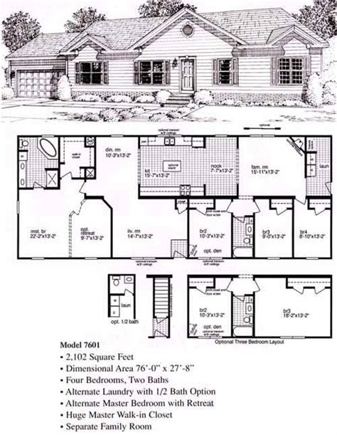 modular floor plans ranch ranch modular home floor plans the windchime bsn homes