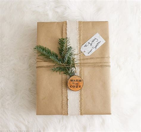 rustic christmas gift wrapping ideas mountain modern life