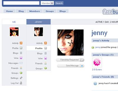 free themes facebook profile free buddypress themes wpmu dev