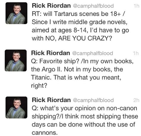 rick riordan biography rick riordan s famous quotes rick riordan tweets this man is going to be the end of us