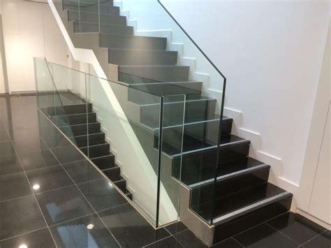barandilla cristal escalera 174 vidrio design barandillas de dise 241 o en cristal en madrid