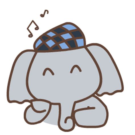 cute elephant animation emoji  funny gif emoji emoticons box