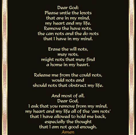 the knots the knots prayer think it