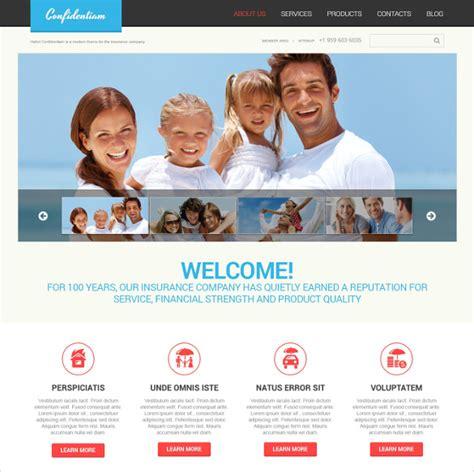 insurance website template 42054