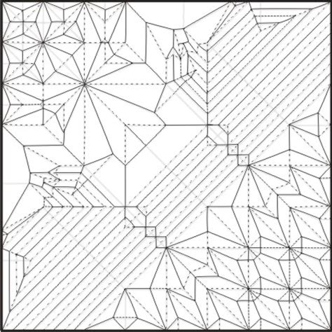 Origami Ancient Diagrams - origami ancient crease pattern www pixshark