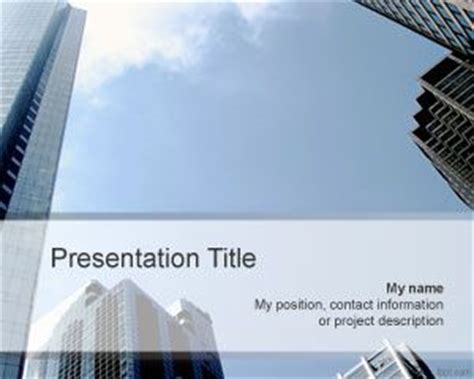 free office building powerpoint template