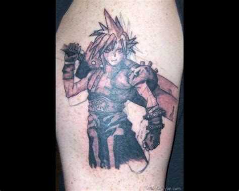 final fantasy tattoo designs ff7 cloud picture 20098 chainimage