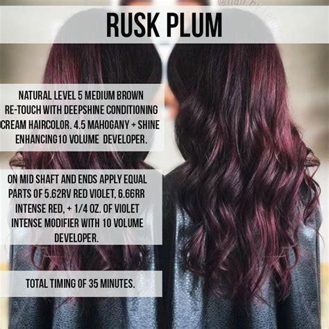 hair color formula plum hair dye formula hairstylegalleriescom of plum hair