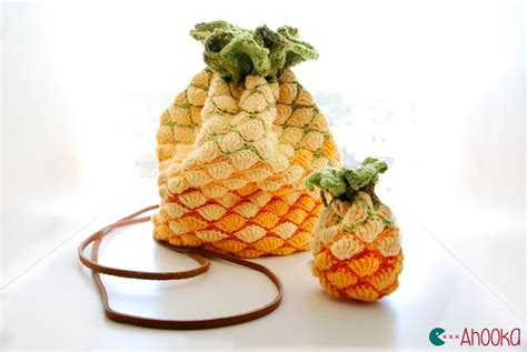 free crochet pattern pineapple bag pineapple crochet bag pattern for win ahookamigurumi