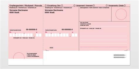 Word Vorlage Einzahlungsschein Roter Einzahlungsschein Bekb Bcbe