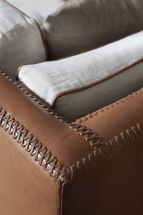 upholstery club stitched leather details divani e