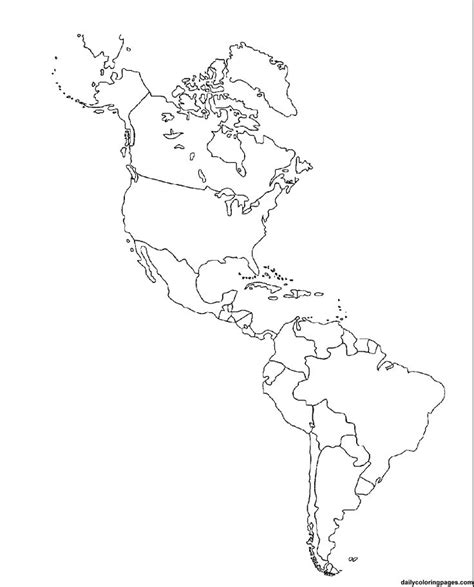 blank map of south america political blank map of america and south