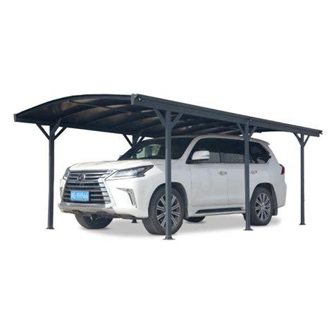 carport 3x5 carport en aluminium anthracite 3x5 76m et polycarbonate