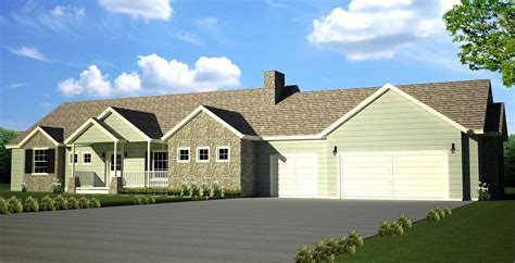 Square Feet Of 3 Car Garage | 2000 sq ft main 4 bedroom 3 bath 3 car garage eetko builders