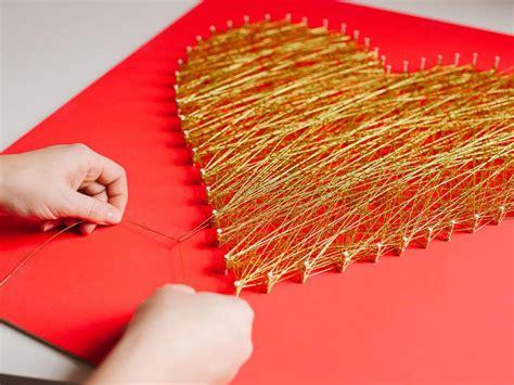 Craft Work For Home Decoration by Modern String Art Heart Hgtv