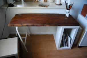 Desks Diy Reclaimed Wood Desk Ikea Hackers Ikea Hackers