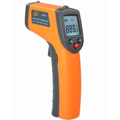 Infrared Thermometer Gun gs320 laser digital lcd ir infrared thermometer auto